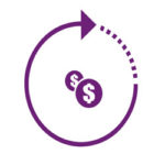 ICON - Money symbolized with dollar signs