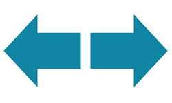 ICON - two arrows pointing up and down